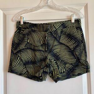 Ann Taylor palm leaf shorts